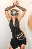 Cat woman at Halloween party Stock Image