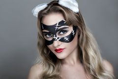 Cat woman Royalty Free Stock Photos