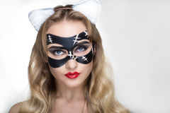Cat woman Royalty Free Stock Image