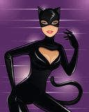 Cat women. Sexy balck cat women in party Stock Photography