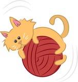 Cat with Yarn stock illustration