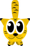 Cat. Yelow cat front illustration stock illustration