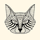 Cat  zentangle Royalty Free Stock Photography