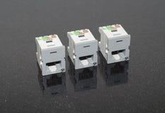 cat5e-Ethernetstålar Royaltyfri Bild