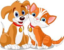 Cat_n_dog Stock Image