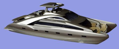 Cata model. Scale model for a fast motor catamaran Stock Images
