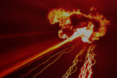 Cataclysm. Vector illustration of abstract fiery background Royalty Free Stock Photos