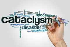 Cataclysm word cloud concept on grey background.  Royalty Free Stock Photography
