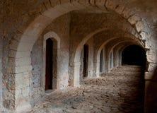 Catacomb passage, Arkadi monastery Crete Greece Stock Image