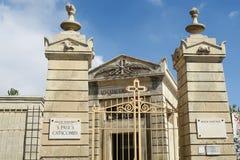Catacombe della st Paul Malta, entrata generale delle catacombe del museo Fotografia Stock Libera da Diritti