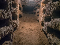 Catacombe di San Pancrazio debajo de la basílica en Trastevere, ROM Imagen de archivo