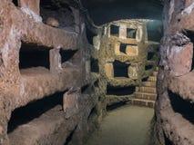 Catacombe di San Pancrazio debajo de la basílica en Trastevere, ROM Fotos de archivo libres de regalías