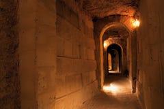 Catacomben in Sousse royalty-vrije stock afbeelding
