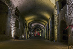Catacomben van San Gennaro in Napels, Italië Royalty-vrije Stock Afbeeldingen
