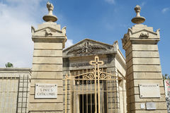 Catacomben van St Paul Malta, de algemene ingang van museumcatacomben Royalty-vrije Stock Foto