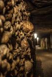 巴黎Catacombes我 图库摄影