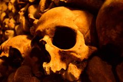 catacombes de Paris Photos stock
