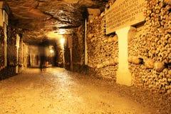 catacombes de Paris Images libres de droits