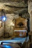 Catacombes de Petersfriedhof à Salzbourg image libre de droits