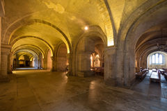 Catacombs of Canterbury Cathedral Stock Images