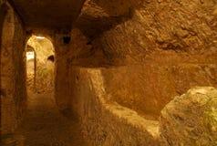Catacombs cristiani, Rabat, Malta Fotografia Stock
