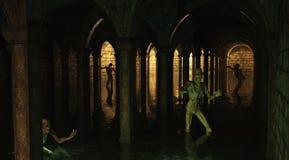 Catacombs do zombi ilustração do vetor
