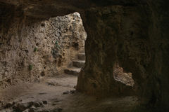 Catacombs of Fabrica Hill - Colline de Fabrika in Pafos. Cyprus Stock Photo