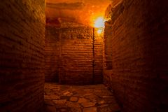 Catacombs in the Hagia Sofia in Istanbul, Turkey. stock images