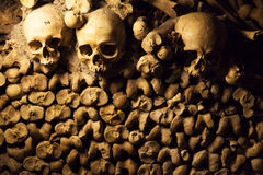 Catacombs of Paris. Royalty Free Stock Photography
