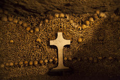 Catacombs of Paris. Royalty Free Stock Image