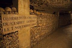 Catacombs of Paris. Stock Photo
