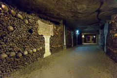 The Catacombs of Paris. France Royalty Free Stock Photography