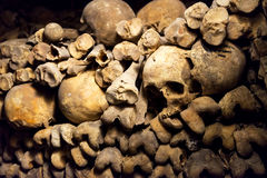 The Catacombs of Paris. France Stock Image
