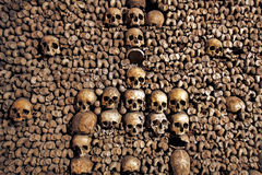 The Catacombs of Paris, France Royalty Free Stock Photos