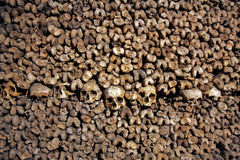 The Catacombs of Paris, France.  Stock Photo