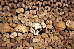 The Catacombs of Paris, France Stock Image