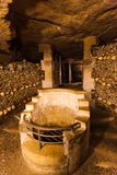 Catacombs in Paris France. Travel background Royalty Free Stock Image
