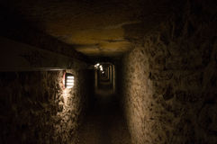 The catacombs of Paris. A most peculiar place Stock Photography