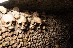 The catacombs of Paris. A most peculiar place Stock Image