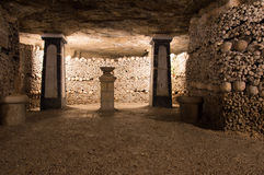The catacombs of Paris Royalty Free Stock Photography