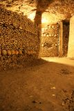 Catacombs of Paris Stock Images