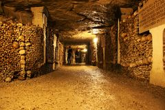 Catacombs of Paris Stock Photography