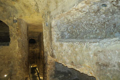 Catacombs of St. Paul, Malta interior and tunnels. Stock Photo