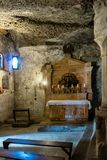 Catacumbas de Petersfriedhof en Salzburg imagen de archivo libre de regalías