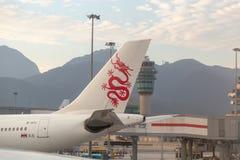 Catai Dragon Dragon Air messo in bacino nell'aeroporto immagine stock
