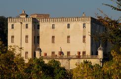 Catajo Castle illuminated by the sun in the province of Padua in Veneto (Italy) Stock Images