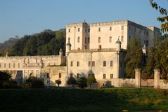 Catajo Castle illuminated by the sun in the province of Padua in Veneto (Italy) Stock Image
