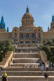 Catalaans Nationaal Art Museum in Barcelona 04 16 2018 Spanje Royalty-vrije Stock Foto