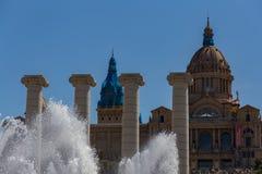 Catalaans Nationaal Art Museum in Barcelona 04 16 2018 Spanje Royalty-vrije Stock Afbeelding