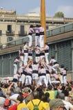 Catalaanse menselijke torens, Castells Stock Afbeeldingen